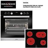 Oranier Herd-Set 3-9906 03 Einbauherd EBH 9938 Glaskeramikkochfeld KFC 9866