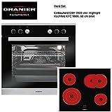 Oranier Herd-Set 2-9906 02 Einbauherd EBH 9923 Glaskeramikkochfeld KFC 9866