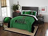 NCAA Marshall mitreißenden Herde Modern Take Two Sham Set, grün, Full/Queen Size
