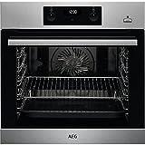 AEG BEB355020M Einbau-Backofen / SteamBake – mit Feuchtigkeitszugabe / Reinigung mit Wasserdampf / Touch-Bedienung / Grillfunktion / Display mit Uhr