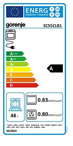 Für größere Ansicht Maus über das Bild ziehen EU-Energielabel Produktdatenblatt Gorenje EC 55 CLB1 Herd Elektro